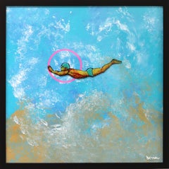 The Young Diver - Ocean Inspired Painting