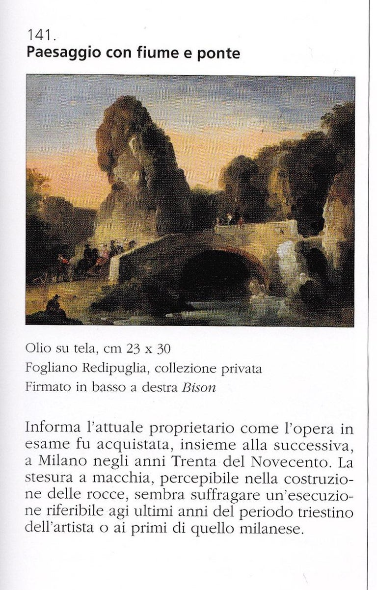 18th century Venetian figure painting - Landscapes - Oil on canvas Bison Signed 12