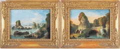 18th century Venetian figure painting - Landscapes - Oil on canvas Bison Signed
