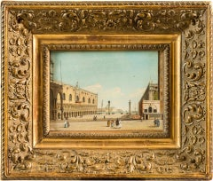Early 18th century Italian painting view of Venice - Tempera on paper Italy