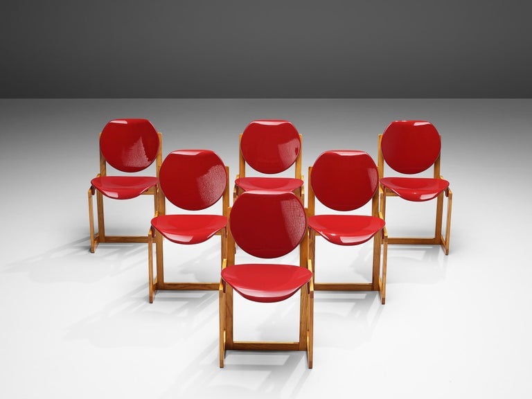 Giuseppe Davanzo Set of Six Dining Chairs 'Serena' For Sale 3