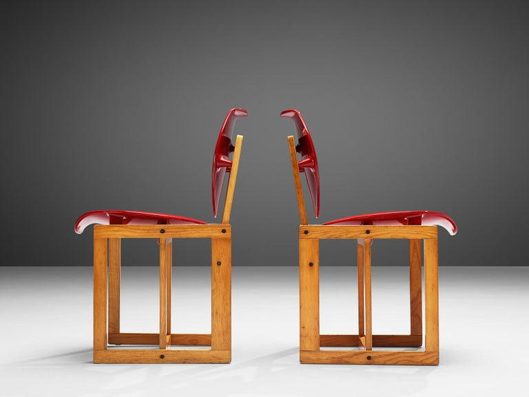 Mid-20th Century Giuseppe Davanzo Set of Six Dining Chairs 'Serena' For Sale