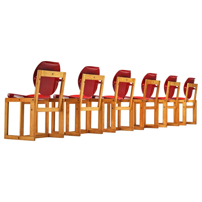 Giuseppe Davanzo Set of Six Dining Chairs 'Serena' For Sale