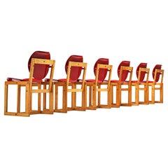 Giuseppe Davanzo Set of Six Dining Chairs 'Serena'