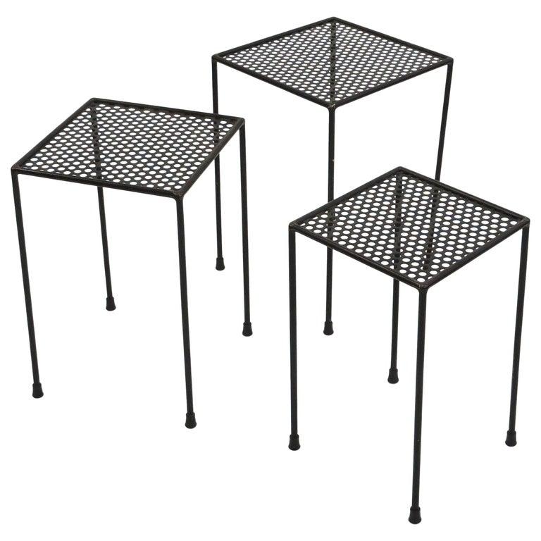 Giuseppe De Vivo Nesting Tables, Italy, 1950s For Sale