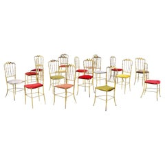 Giuseppe Gaetano Descalzi Chiavari Dining Chairs Set, Italy, 1960