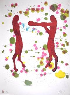 Boxers - Original Lithograph by Giuseppe Gallo - 2008
