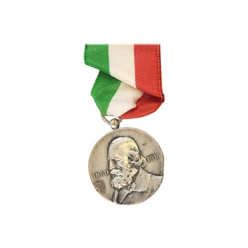 Giuseppe Garibaldi Silver Medal by Italian Manufacture, 1910