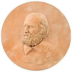Giuseppe Garibaldi Terracotta Portrait, Italian Manufacture