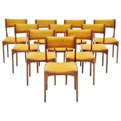 Giuseppe Gibelli Beatrice Dining Chairs Sormani, Italy, 1960