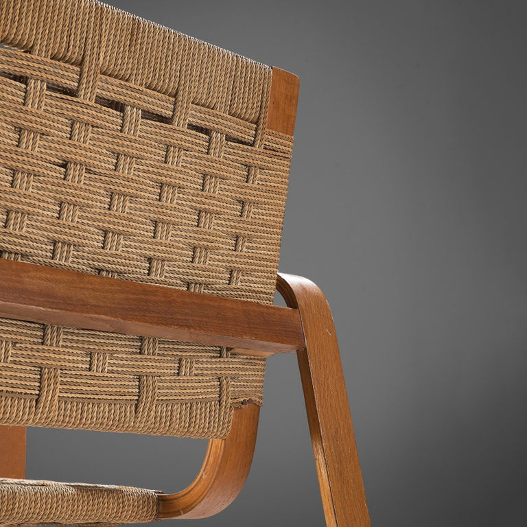 Mid-Century Modern Giuseppe Pagano Pogatschnig Pair of Bentwood Lounge Chairs, 1940s