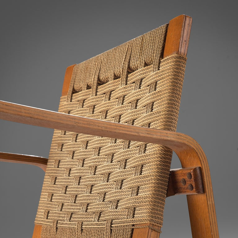 Giuseppe Pagano Pogatschnig Pair of Bentwood Lounge Chairs, 1940s In Good Condition In Waalwijk, NL