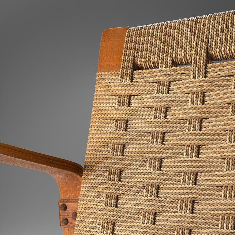 Rope Giuseppe Pagano Pogatschnig Pair of Bentwood Lounge Chairs, 1940s