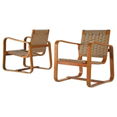 Giuseppe Pagano Pogatschnig Pair of Bentwood Lounge Chairs, 1940s