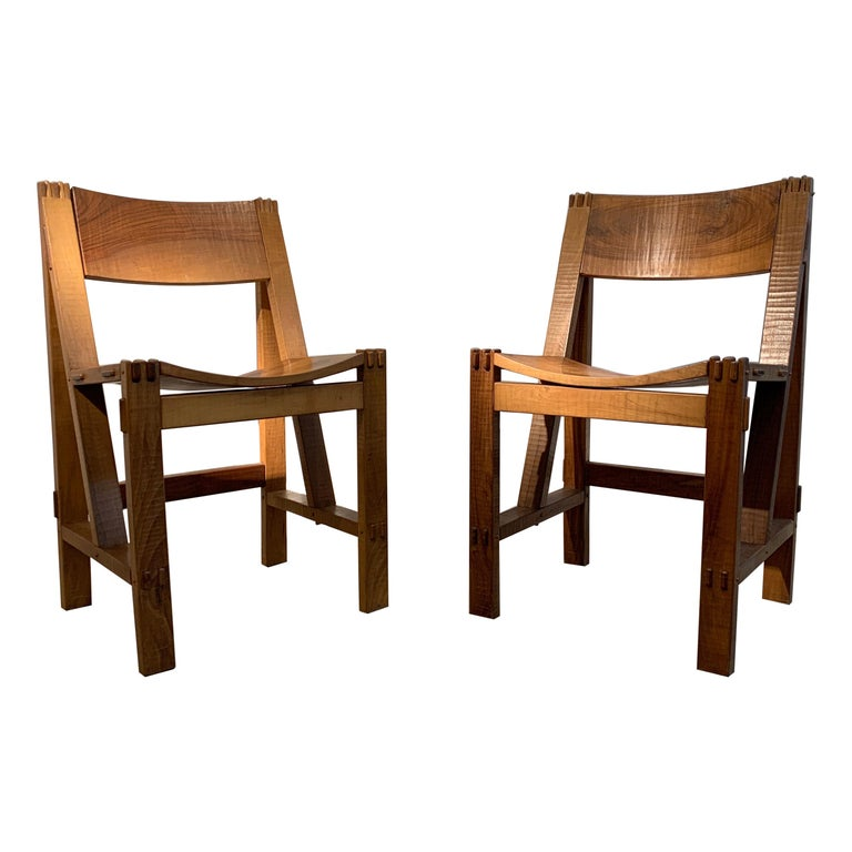 Giuseppe Rivadossi Regina Chairs, 1970s For Sale