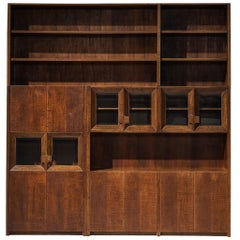 Giuseppe Rivadossi Wall Unit in Carved Oak