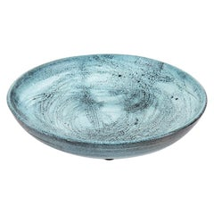 Giuseppe Rossicone Decorative Dish in Light Blue Ceramic, 1960