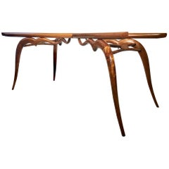 Giuseppe Scapinelli, Brazilian Modernist Dining Table Made with Solid Caviuna