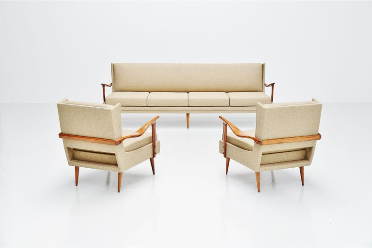 Giuseppe Scapinelli Caviuna Lounge Chairs Pair, Brazil, 1955 For Sale 4