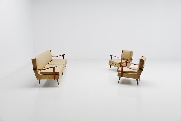 Giuseppe Scapinelli Caviuna Lounge Chairs Pair, Brazil, 1955 For Sale 5