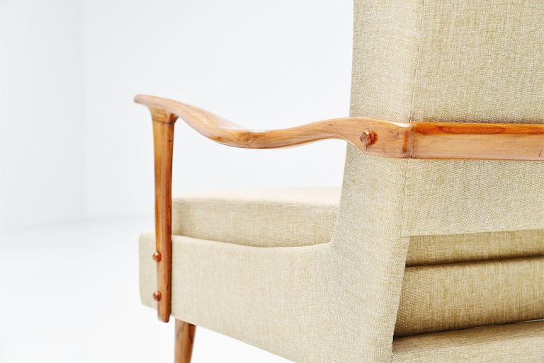 Giuseppe Scapinelli Caviuna Lounge Chairs Pair, Brazil, 1955 For Sale 1