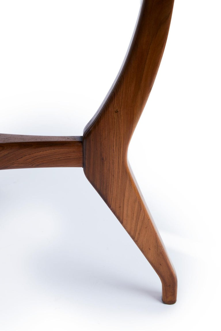20th Century Giuseppe Scapinelli Brazilian mid-century Dining Table in Caviuna Wood  For Sale