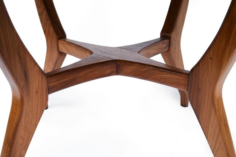 Giuseppe Scapinelli Brazilian mid-century Dining Table in Caviuna Wood  For Sale 1