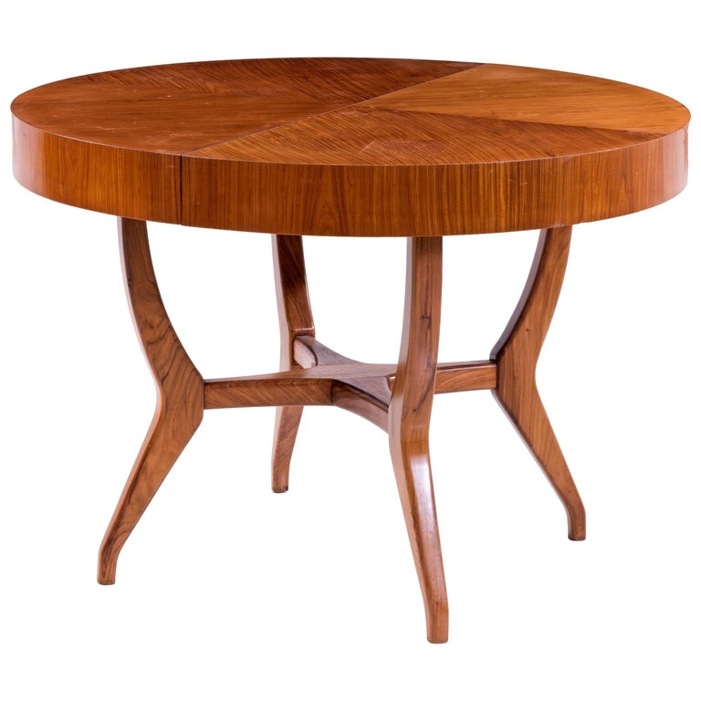 Giuseppe Scapinelli Brazilian mid-century Dining Table in Caviuna Wood  For Sale