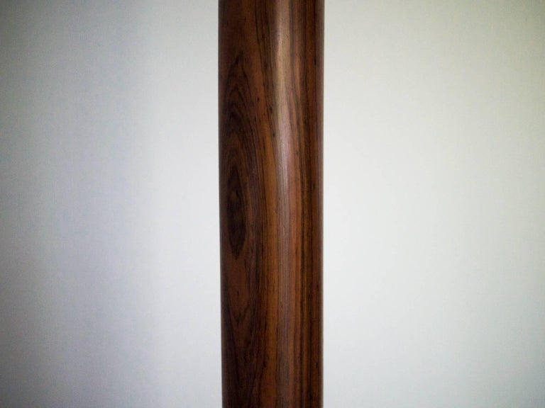 20th Century 1950s Floor Lamp by G. Scapinelli in Rosewood, Marble, Brass and Crystal, Brazil For Sale