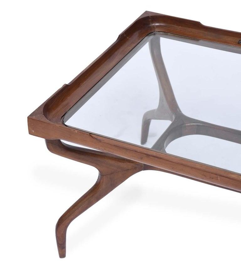 Mid-Century Modern Giuseppe Scapinelli Midcentury Brazilian Center Table in Caviúna Wood, 1950s For Sale