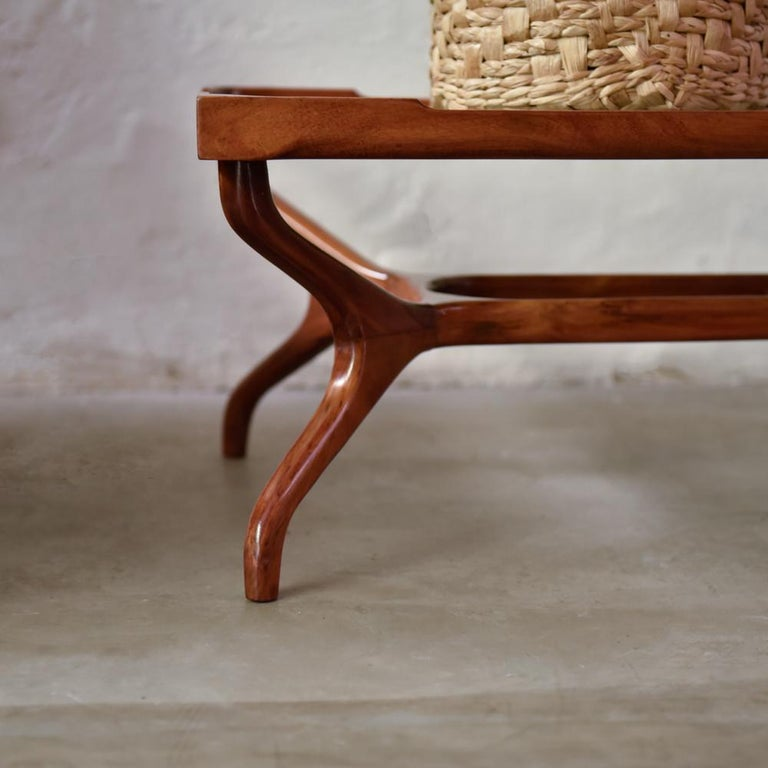 20th Century Giuseppe Scapinelli Midcentury Brazilian Center Table in Caviúna Wood, 1950s For Sale