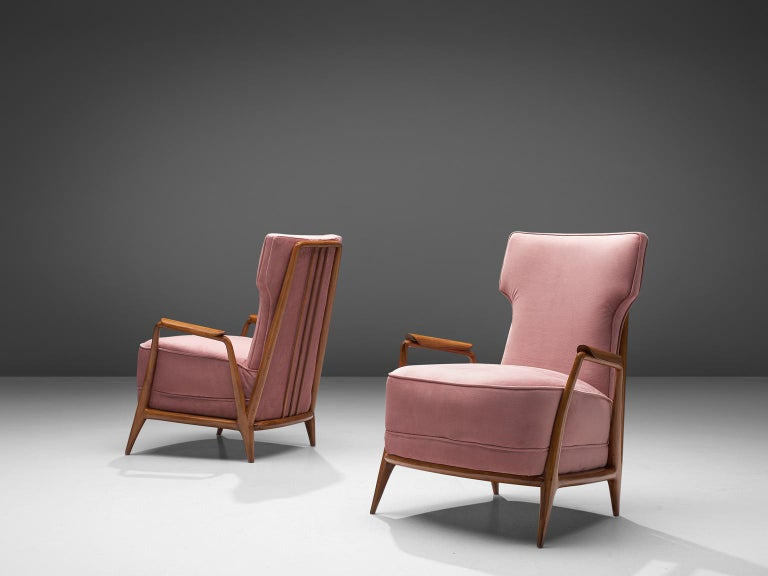 Giuseppe Scapinelli Pair of High Back Chairs In Good Condition In Waalwijk, NL