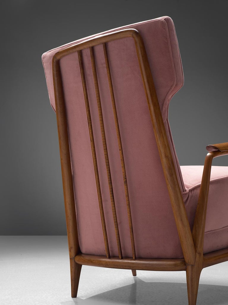 Mid-20th Century Giuseppe Scapinelli Pair of High Back Chairs