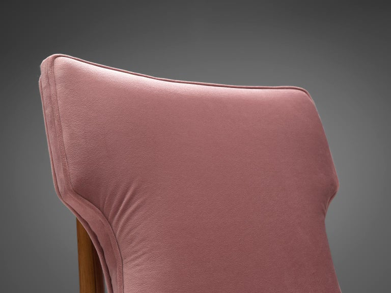Suede Giuseppe Scapinelli Pair of High Back Chairs