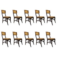 Giuseppe Scapinelli, Set of 10 Brazilian Modernist Chairs