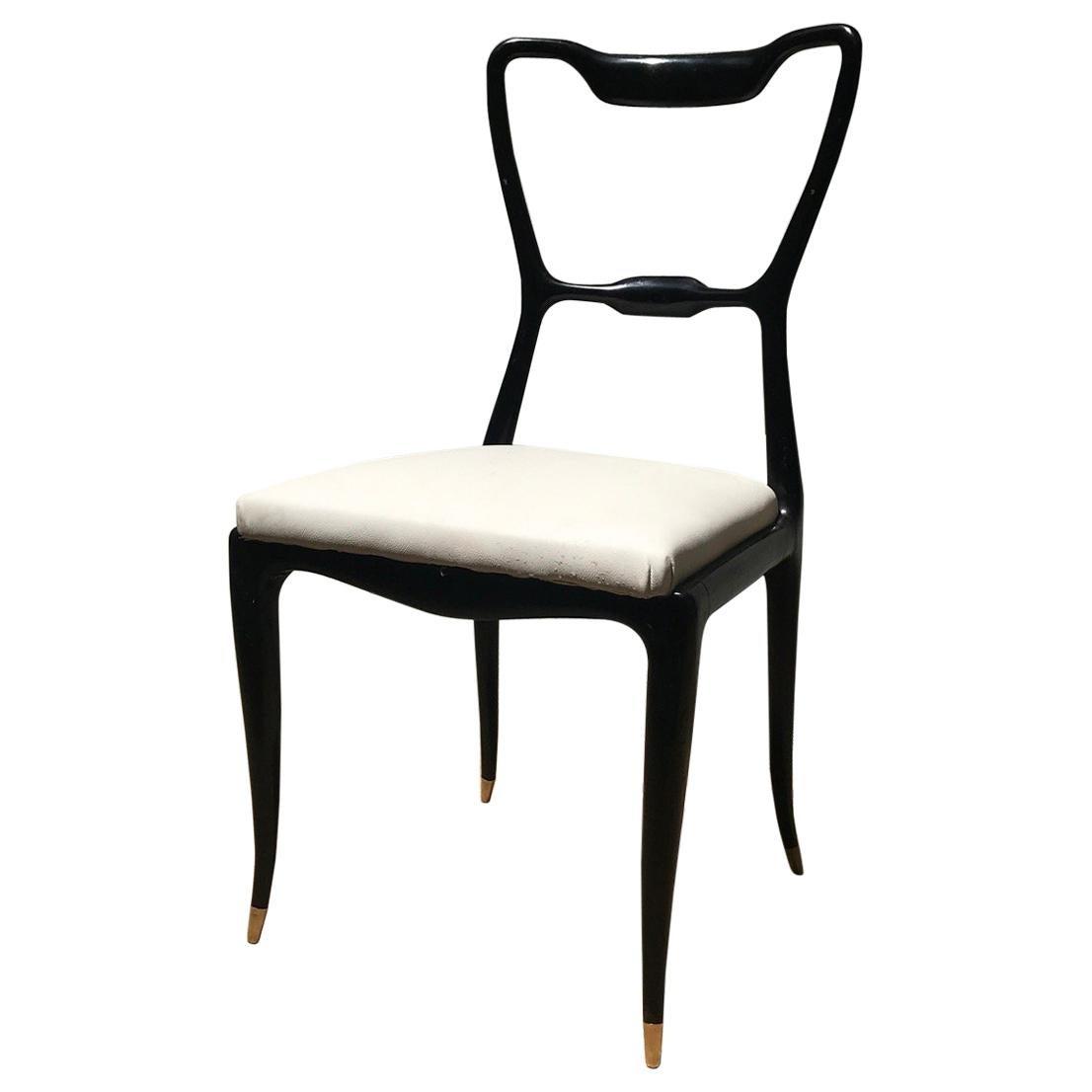 Giuseppe Scapinelli, Set of 10 Ebonized 1950s Brazilian Modern Design Chairs