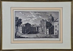 "18th Century Etching of ""S. Pietro in Carcere"" in Rome by Giuseppe Vasi"