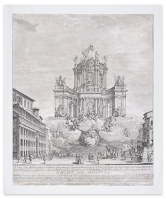 Artificial Fire Machine - Orginial Etching On Paper by Giuseppe Vasi - 1728