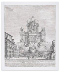 Artificial Fire Machine - Original Etching by Giuseppe Vasi - 1728