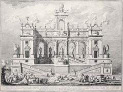 Campidoglio - Original Etching by Giuseppe Vasi - 1764