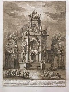 Edificio con Loggiato per l'estrazione del Lotto - by Giuseppe Vasi - 1776