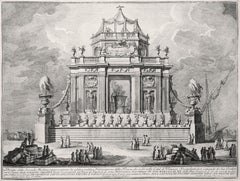 Fabricazione della Triaca - Original Etching by Giuseppe Vasi - 1773