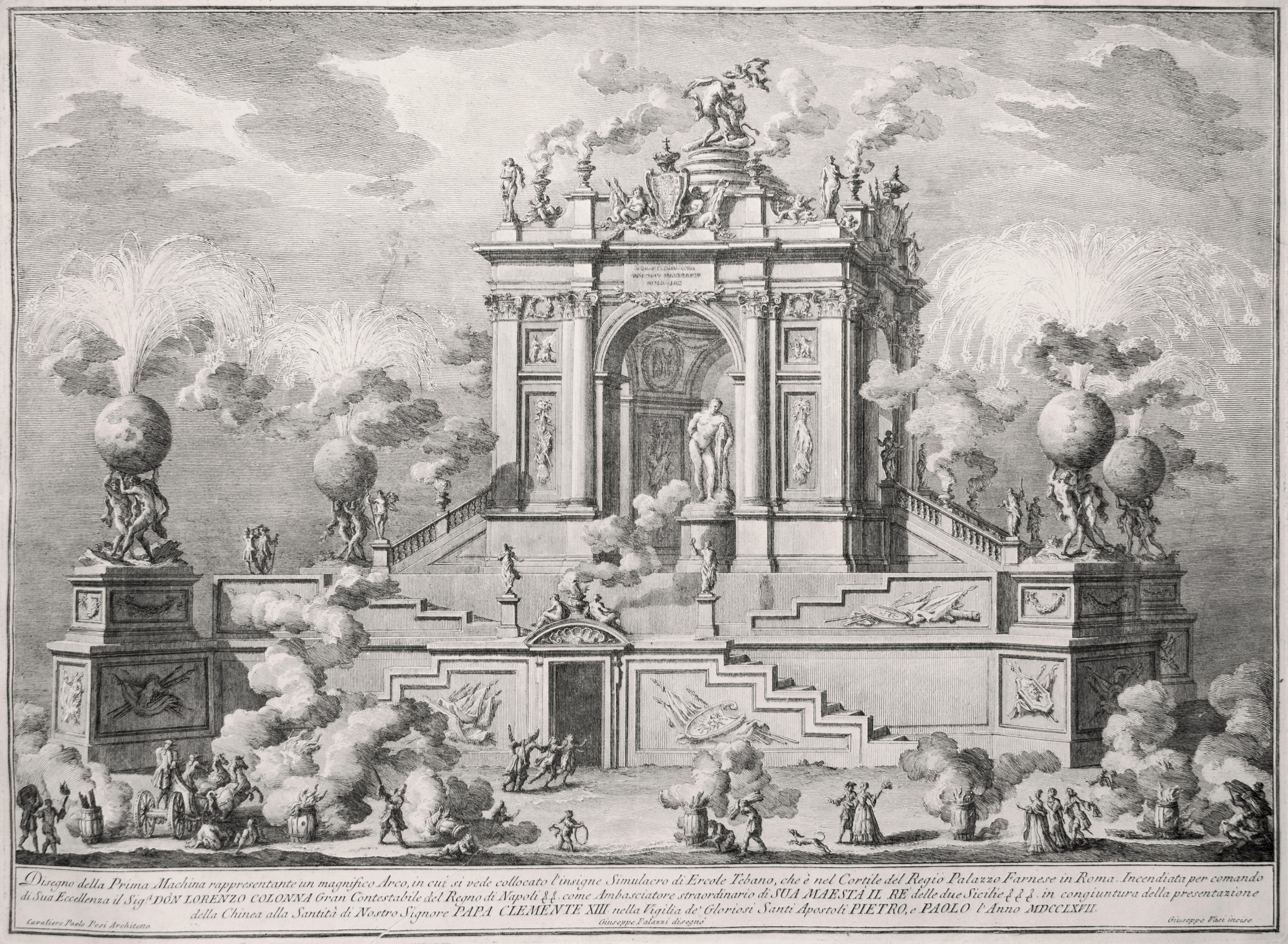 Magnifico Arco con il Simulacro di Ercole Tebano - by Giuseppe Vasi - 1767