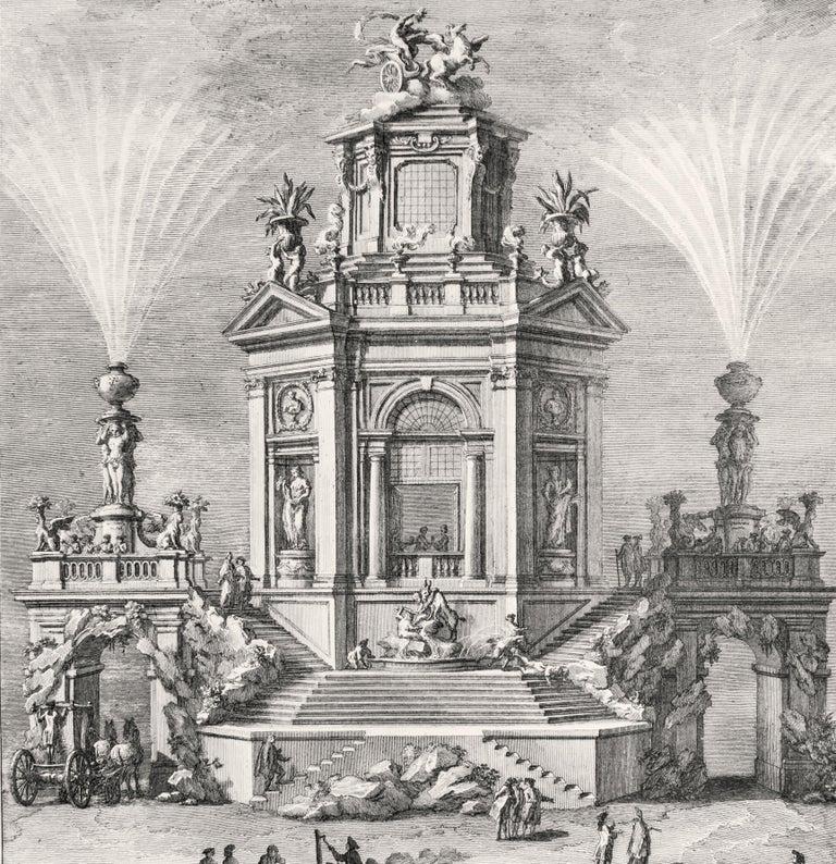 Nobil'Edifizio a diporto in Luogo di Delizia - Etching by Giuseppe Vasi - 1776 For Sale 1