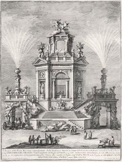 Nobil'Edifizio a diporto in Luogo di Delizia - Etching by Giuseppe Vasi - 1776