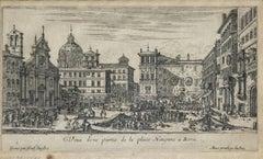 Spiaggia detta La Regola - Original Etching by Giuseppe Vasi - 1747