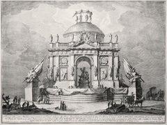 Tempio dedicato alla Pace - Etching by Giuseppe Vasi - 1773