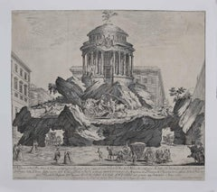 The Temple of Glory - Original Etching by Giuseppe Vasi - mid-18th Century