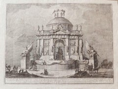 The Temple of Peace - Original Etching by Giuseppe Vasi - Mid-18th Century