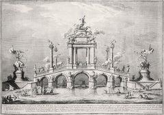 Un Ponte trionfale ornato con reperti di Ercolano - by Giuseppe Vasi - 1755